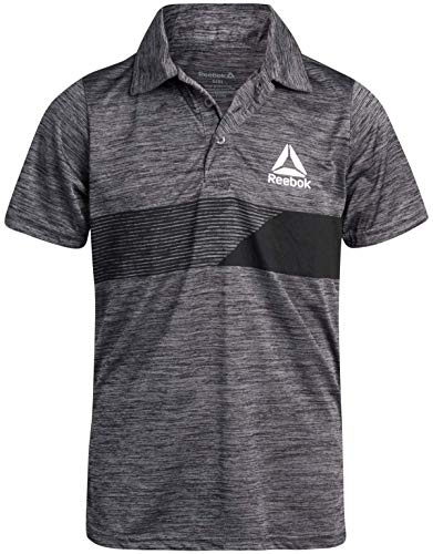 Reebok Boys Quick Dry Breathable Athletic Performance Sports Polo Shirt, Asphalt Grey, Size X-Large'