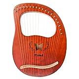 Varadyle Arpa de Lira, ViolíN Griego, Arpa de 19 Cuerdas con Bolsa de Transporte Llave de AfinacióN Arpa Orquestal para Entusiastas de la MúSica, Principiantes, Etc.