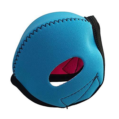 Neopren Cover Hülle Tasche Schutzhülle für Atemregler Second Stage Oktopus - Himmelblau