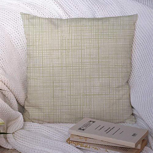 Cojines de tiro Funda de lona beige Textura como delicado patrón de malla en blanco Gris con algodón abstracto Texturas negras Fundas de almohada Funda de cojín 45 X 45CM