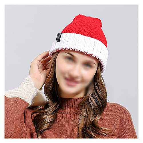 サンタ帽子 冬のクリスマスの帽子ハロウィーンクリエイティブニットウールかぎ針編み豆の厚い暖かい帽子パーティーギフトunisex bonnet クリスマスキャップ