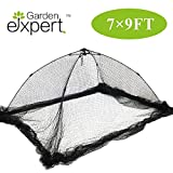 Garden EXPERT Pond Net Cover Garden Cover 7x9 Feet Pond and Garden Protector with Netting Tent Dome