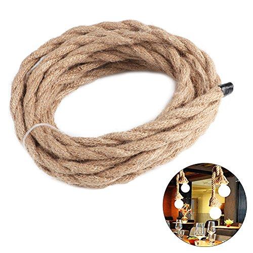 Electrical Wire, woopower 5m Vintage Seil Draht Twisted Kabel Retro Geflochten für Heimwerker Anhänger Lampe