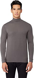 Mens Light-Weight Baselayer Mock Neck Top