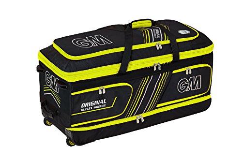 Slazenger Unisex V60 Wheelie Cricket Bag Black//Yellow
