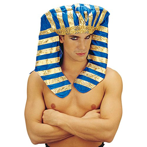 Amakando Pharao Hut Ägyptische Kopfbedeckung Ägypter Kopfschmuck Fasching Pharaonen Mütze Ramses Cheops Tutenchamun Ägypten König Haarschmuck Antike Mottoparty Accessoire Karneval Kostüm Zubehör