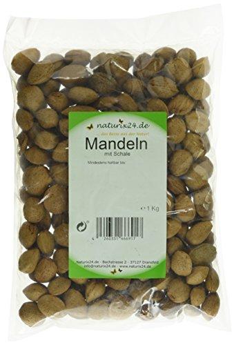 Naturix24 Krachmandeln, Mandeln mit Schale – Beutel, 1er Pack (1 x 1 kg)