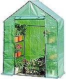 Serre de Jardin PE Plastique Tente abri Maison verte en plastique mini serre de serre PVC/ PE Couverture avec des étagères en acier, des fleurs de jardinage plantes en pot d' hiver de l' antigel eau