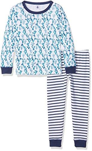 Petit Bateau Pyjama Pantalones de Pijama, Blanc (Ecume/Medieval/Multico), 5 años para Niños