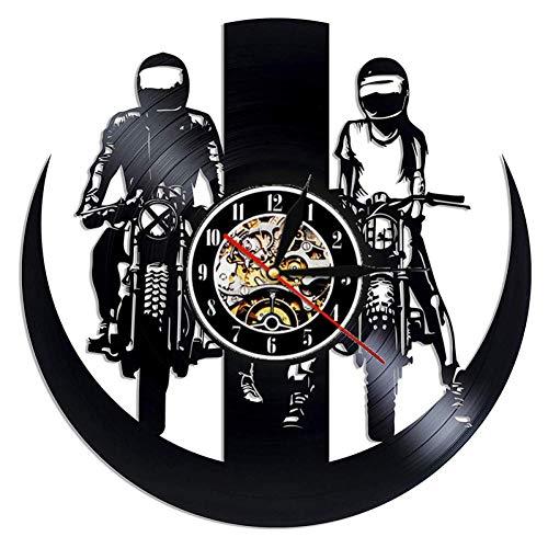 Vinilo Pared Reloj Decoración 3D Motocross Motociclismo Rel