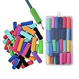 Lvcky - 50 impugnature in schiuma per matite, composte da 11 anelli, in morbida schiuma imbottita, per aiutare i bambini a scrivere, colori assortiti