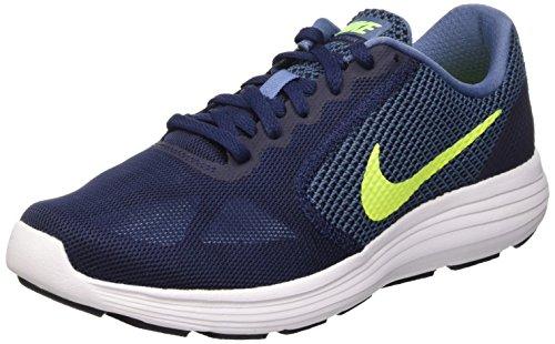 Nike Revolution 3, Herren Laufschuhe, Azul / Verde / Blanco (Ocean Fog / Volt-Obsidian-White), 44.5 EU
