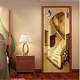 Fototapete Selbstklebend Türposter 3D Aufkleber Treppe