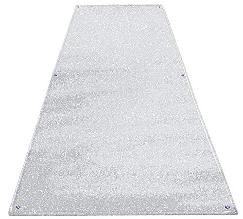 House, Home and More Outdoor Turf Wedding Aisle Runner - White - 4 Feet x 50 Feet