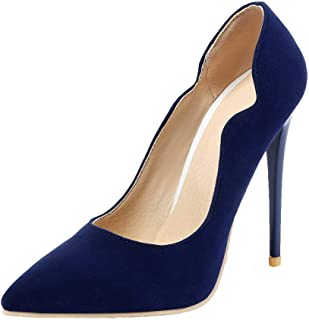 VogueZone009 Women's Frosted Solid Pull-On Pumps-Shoes, CCADP011471