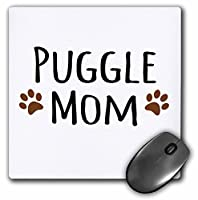 mp_154179_1 InspirationzStore Pet designs - Puggle Dog Mom - Doggie by breed - muddy brown paw prints - doggy lover - proud pet owner mama love - Mouse Pads by 3dRose LLC [並行輸入品]