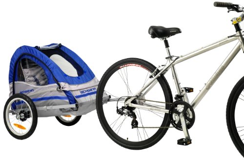 Schwinn Trailblazer Single Bike Trailer,Blue/Gray,16-Inch