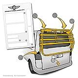 Lackschutzpads passend für original Fahrradträger vom Hersteller (VW T5 Multivan, Caravelle) Selbstklebende transparente Lackschutzfolie Schutzpads (7tlg) für...