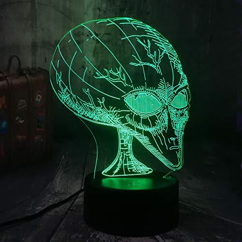 Neuheit Film Cosmic Space Alien ET USB Halloween 3D LED Nachtlicht USB Tischlampe Kinder Geburtstagsgeschenk Nachtzimmer Dekoration