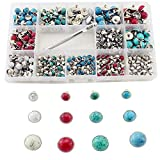 320 Sets Faux Turquoise Rivets Kit 6/8/10mm 4 Colors Metal Rapid Rivet with Tool Studs for...