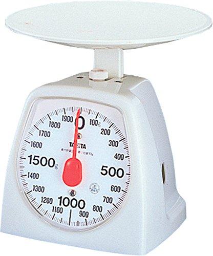 タニタ キッチンスケール はかり 料理 アナログ 2kg 10g単位 ホワイト 1439-WH