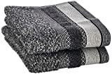 SKL Home by Saturday Knight Ltd. Geo Hand Towel, Slate 2 Count