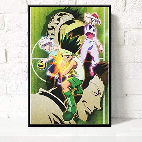 Simayi Carteles E Impresiones Hunter X Classic Japan Anime Movie Wall Art Picture Pintura En Lienzo para La Decoración del Hogar De La Habitación 50X70Cm Ll-1748