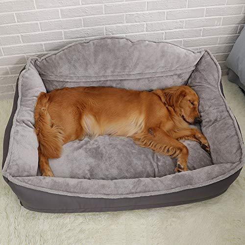 DUCHEN Orthopädisches Haustier-Hundebett, groß, Hundesofa, Hundekissen, kuschelig, weicher Samt, beruhigendes Bett, Schlafsofa, Matratze für große Golden Retriever, Labrador