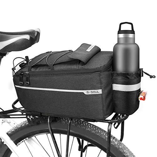 E-More Borsa da bicicletta, 10L Borsa Posteriore Bici Borsa Portapacchi Impermeabile Isolata Pacchetto Bagagli per Posteriore per Biciclette Riflettenti con tracolla per MTB Bici da Strada