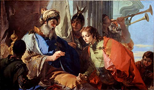 "Giovanni Battista Tiepolo Joseph Receiving Pharaohs Ring 1733-1735 Dulwich Picture Gallery London 24"" x 14"" Fine Art Giclee Canvas Print (Unframed) Reproduction"