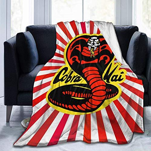 wteqofy Black-Cobra-Kai Decke Fuzzy Luxury Throw Warme und gemütliche Flanell Bettdecke für Sofa Travel Yoga Camping Picknick Kino Home Beach Größe für Kindergarten Kinder Erwachsene 60 'X50