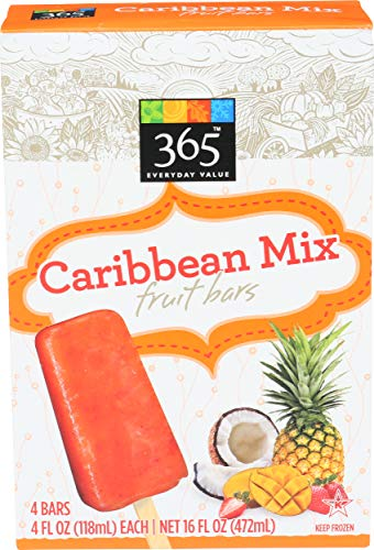 365 Everyday Value Caribbean Mix Fruit Bars 4 fl oz 4 ct Frozen