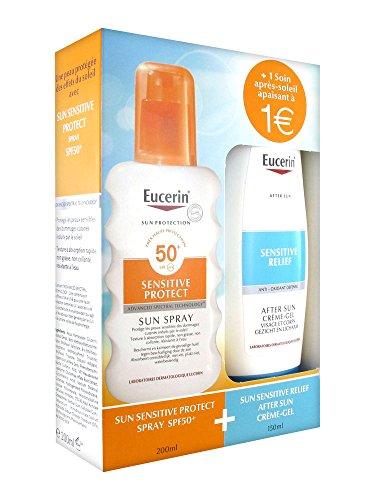Eucerin Sun Protection Sensitive Protect Spray SPF 50+ 200 ml + Sensitive Relief After Sun Crème-Gel 150 ml