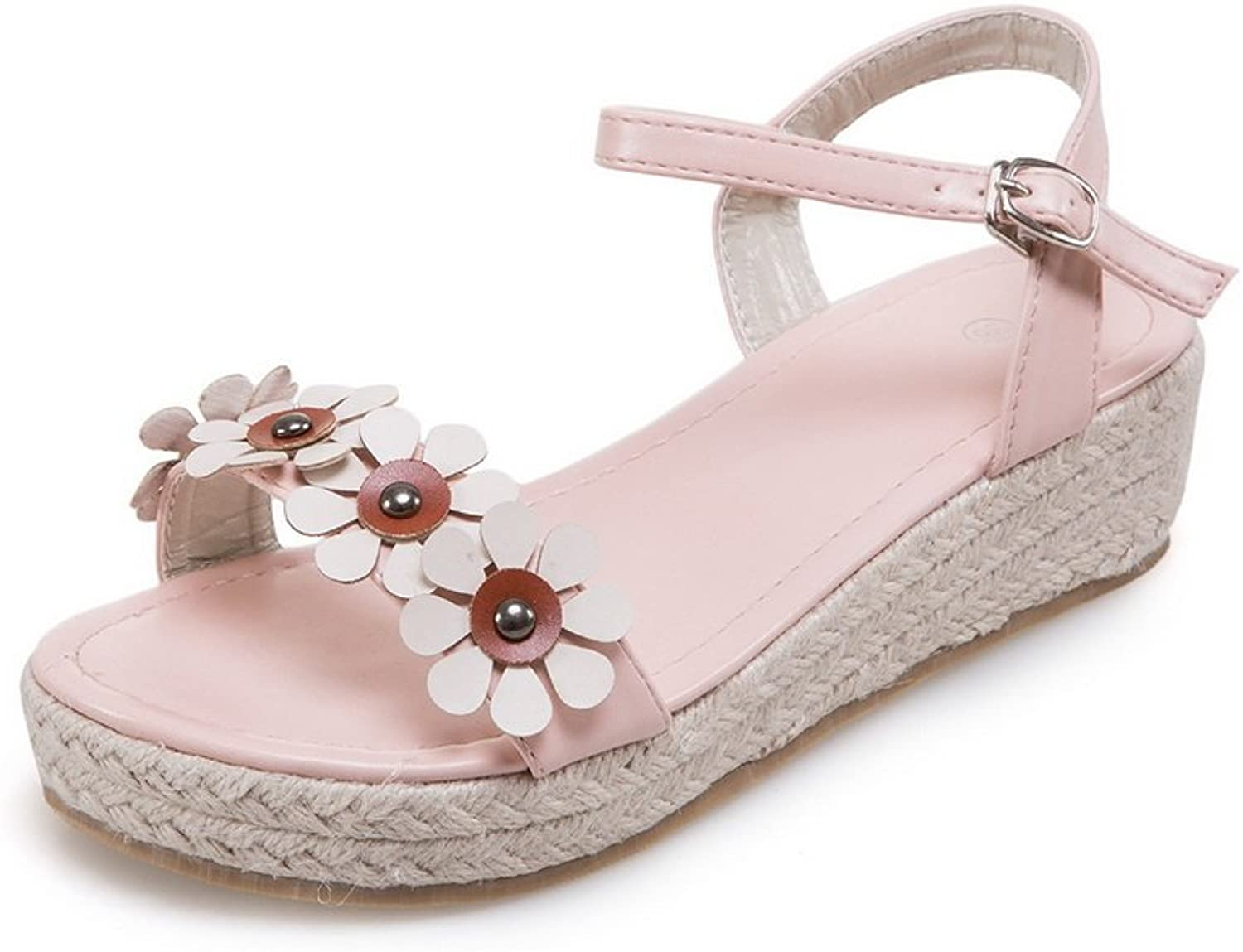 1TO9 Womens Flowers Buckle Buckle Urethane Flats shoes MJS02951