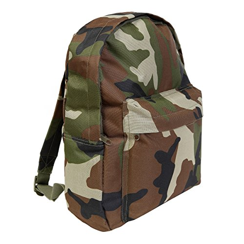 Kids Army Style Camo Rucksack 15ltr Camouflage Back Pack - Kids Army Roleplay