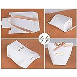 SERWOO (5.7 * 5.7 * 10cm) 50 Stück Gastgeschenk Box Geschenkbox Pralinenschachtel für Hochzeit, Geburtstag, Taufe, Party, Weihnachten Süßigkeiten Bonboniere - 3