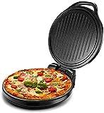 qiuqiu Pizzaofen, Elektrische Backform, 1500 W Doppelseitiger Ofen, Antihaft-Pizzabäcker, Für...