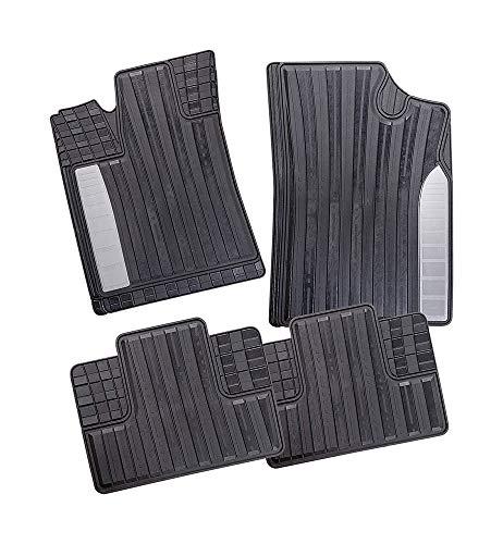 CarFashion Monaco | VarioFit 1 | allweather Universal vloermatten met instap | Auto rubberen matten set zonder mathouder