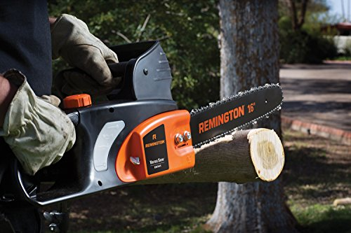 Remington RM1645 Versa Saw 12 Amp 16-Inch Electric Chainsaw with Automatic Chain with Auto Oiler-Soft-Touch Grip and Hand Guard, Orange