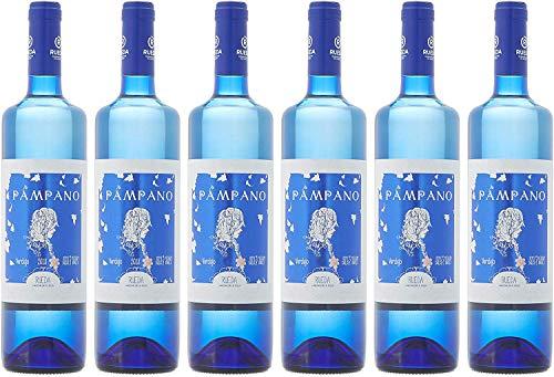 Pampano Vino Blanco Semi Dulce D.O Rueda - 6 Botellas de 750 ml (Total 4.5 L)