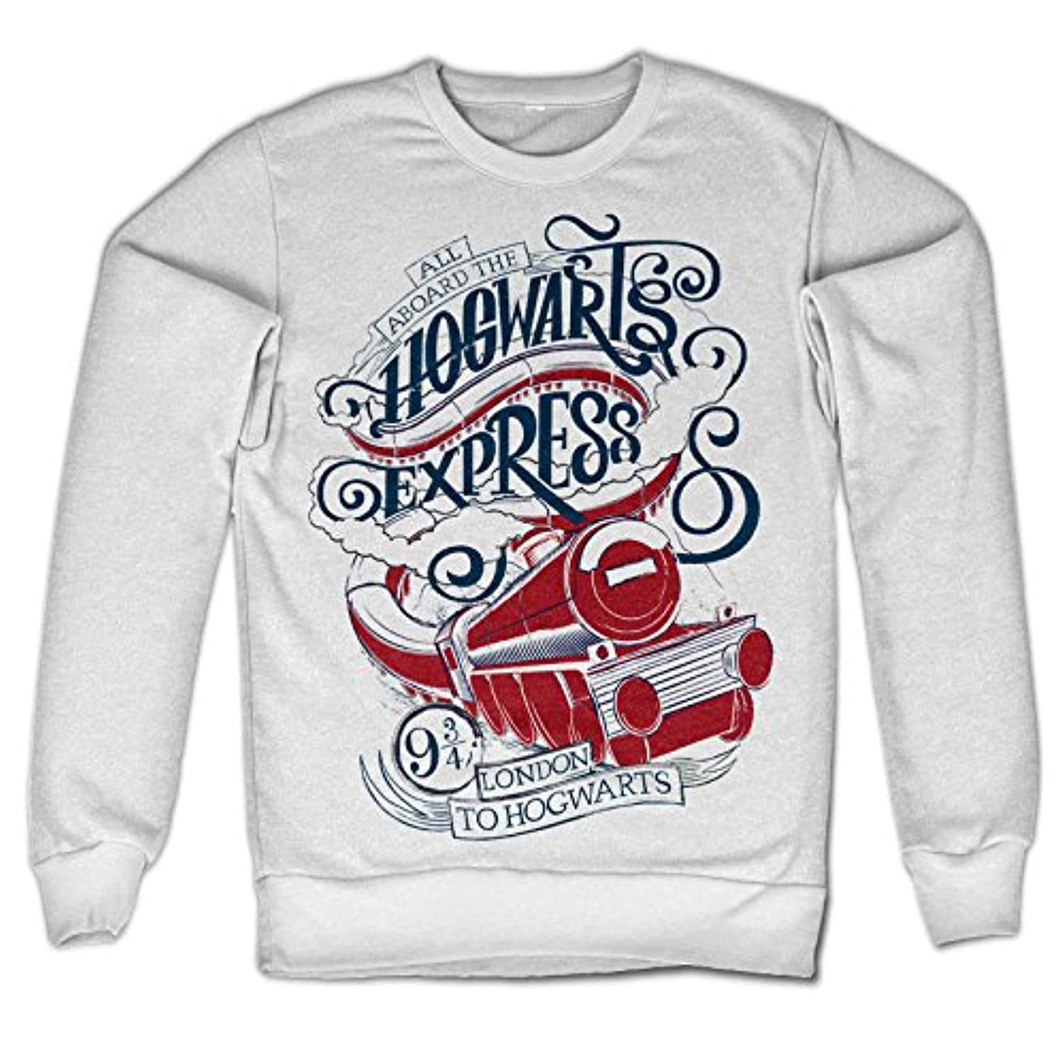 Officially Licensed Inked All Aboard The Hogwarts Express Sweatshirt (White)