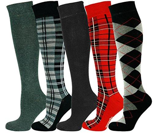 Mysocks® Rodilla alta calcetines Paquete Multi 604