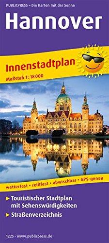 Hannover: Touristischer Innenstadtplan mit Sehenswürdigkeiten und Straßenverzeichnis. 1:18000 (Stadtplan / SP)