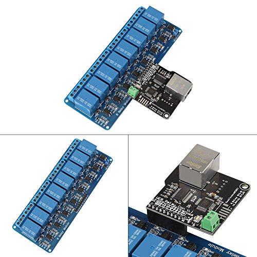 Ethernet-besturingsmodule LAN WAN-netwerk WEB-server RJ45-poort + 8-kanaals relais-besturingsmodule