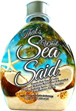 That's What Sea Said Tattoo Friendly Tanning Lotion Accelerator For Outdoor Pools & Indoor UV Skin Tanning Beds - White Lotion, NO BRONZER! Coconut & Passion Fruit Hydrating Dark Tanning Lotion