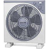 ELECTROTEK Ventilador Cuadrado de 12 cm. de diámetro con Temporizador de 2 Horas. Potente (40W)