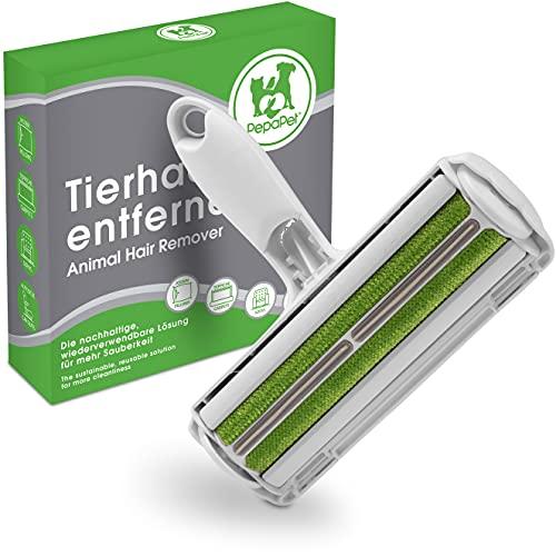 PepaPet® Tierhaarentferner Fusselrolle Fusselbürste Tierhaare wiederverwendbar - Tierhaare effizient entfernen - auf Sofas Teppichen im Auto schnell und einfach