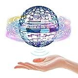 CJHZQYY Dron Flying Ball con forma de globo mini dron volador con luces LED brillantes, recargable 360 ° pelota Flying...