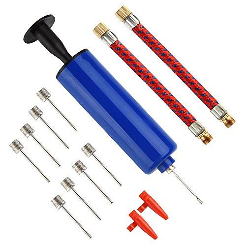 FEPITO 14 Stück Aufblasbarer Werkzeugsatz Inflator Ball Pumpe Nadeln, Flexible Schlauchdüse Basketball, Fußball, Volleyball, Rugby, Wasserball Ball