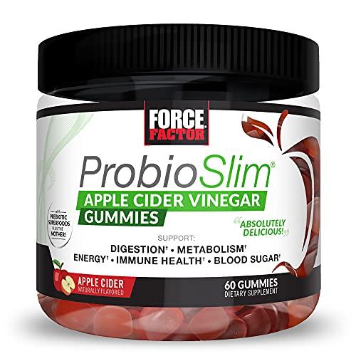 Force Factor Probioslim Apple Cider Vinegar Gummies 60ct, 60 Count